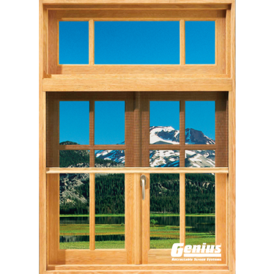 Incognito2 Retractable Window Screens - CUSTOM MADE WOOD VENEER