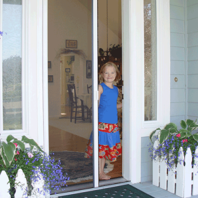 Let the Fresh Air In and Keep the Bugs Out This Spring with Milano 100 Retractable Door Screen