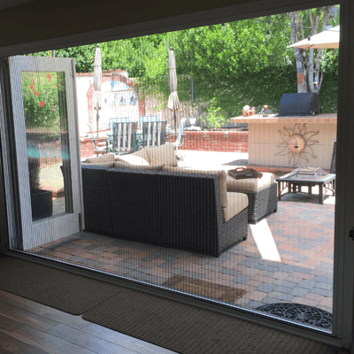 Zigzag Retractable Screens in Orange County, CA Allow Clear Views Outside
