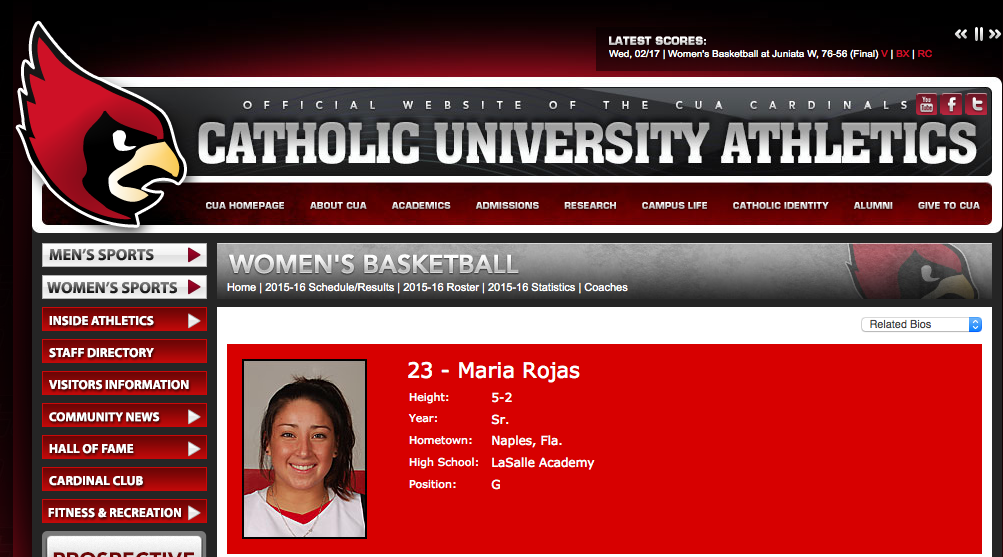 Boston Bobcats: Excited about adding coach Maria Rojas as the I95 South Director