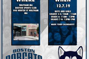 BOSTON BOBCATS: SPRING TRYOUTS – Jan 18th at BSC Waltham
