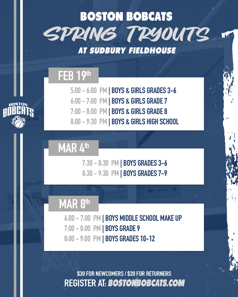 2021 BOBCATS SPRING TRYOUTS