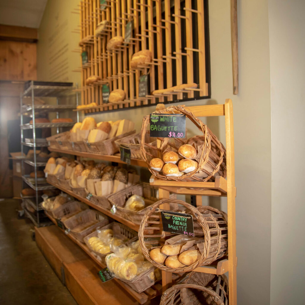 Bread wall at Spirit Tree