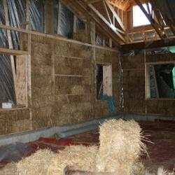 Straw bale constrution.