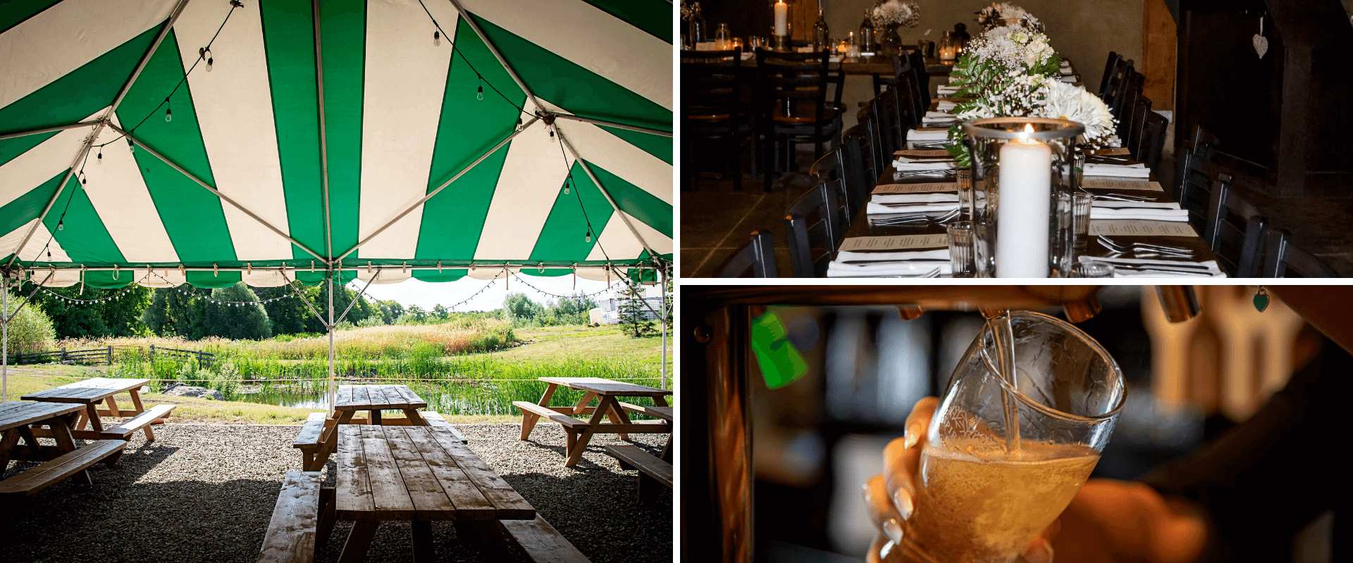 A collage of private events at Spirit Tree