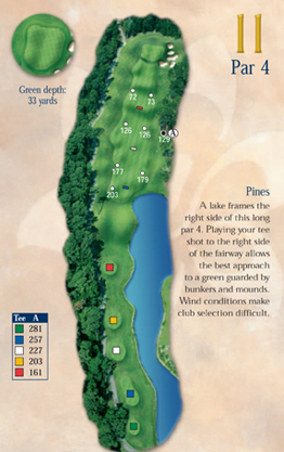 Playing the Par 4 11th Hole