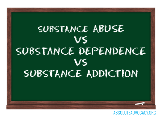 substance abuse substance dependence substance addiction