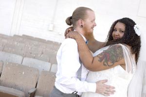 vneck lace wedding dress