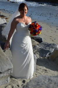 chiffon aline wedding dress
