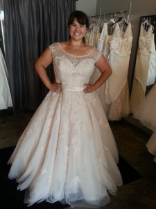 plus size ballgown wedding dress