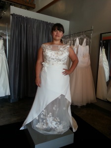 plus size beach wedding dress