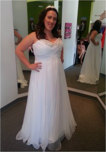plus size chiffon empire wedding dress