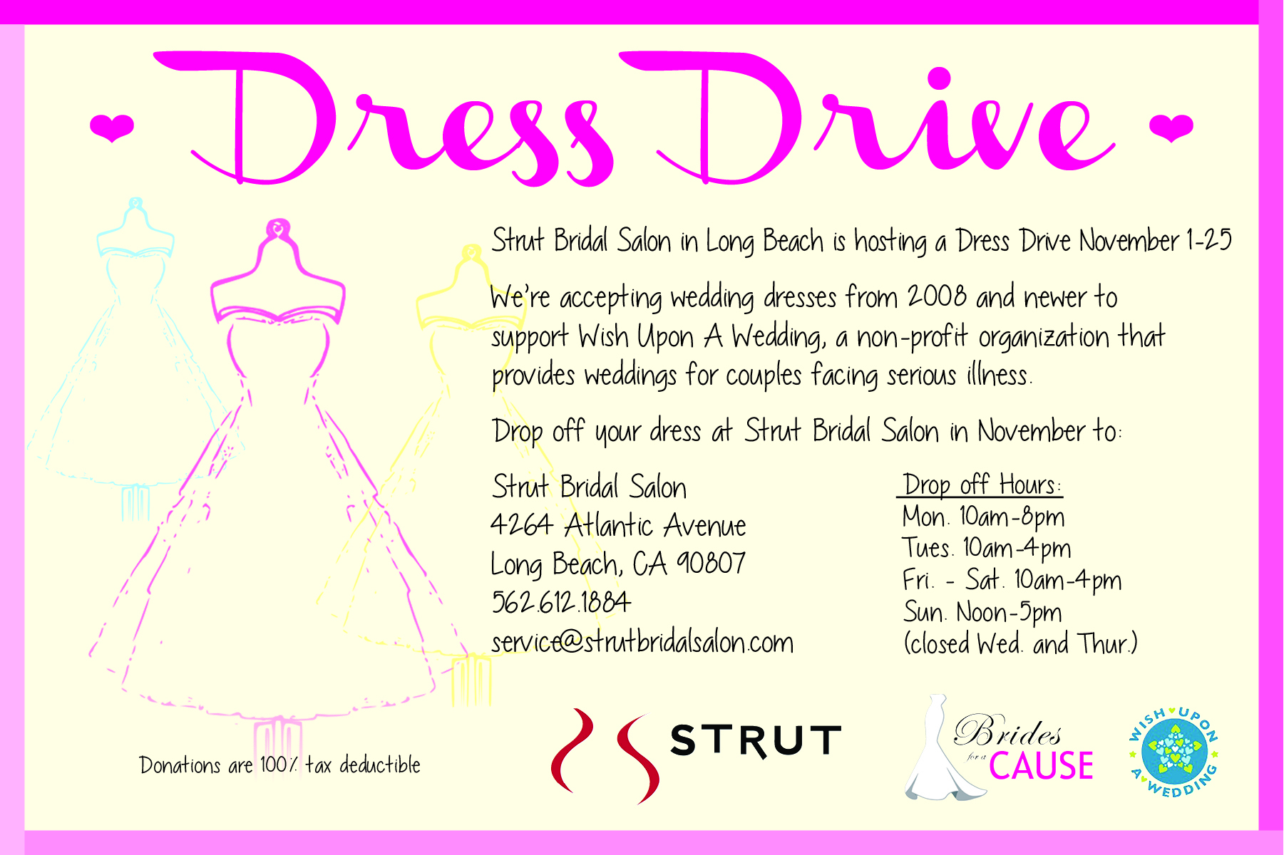 Los Angeles Wedding Dress Donation Drive