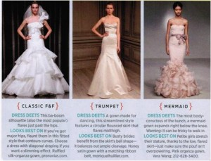 difference betwen trumpet and mermaid wedding dresses