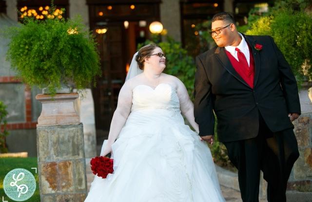 dropped waist plus size ballgown wedding dress