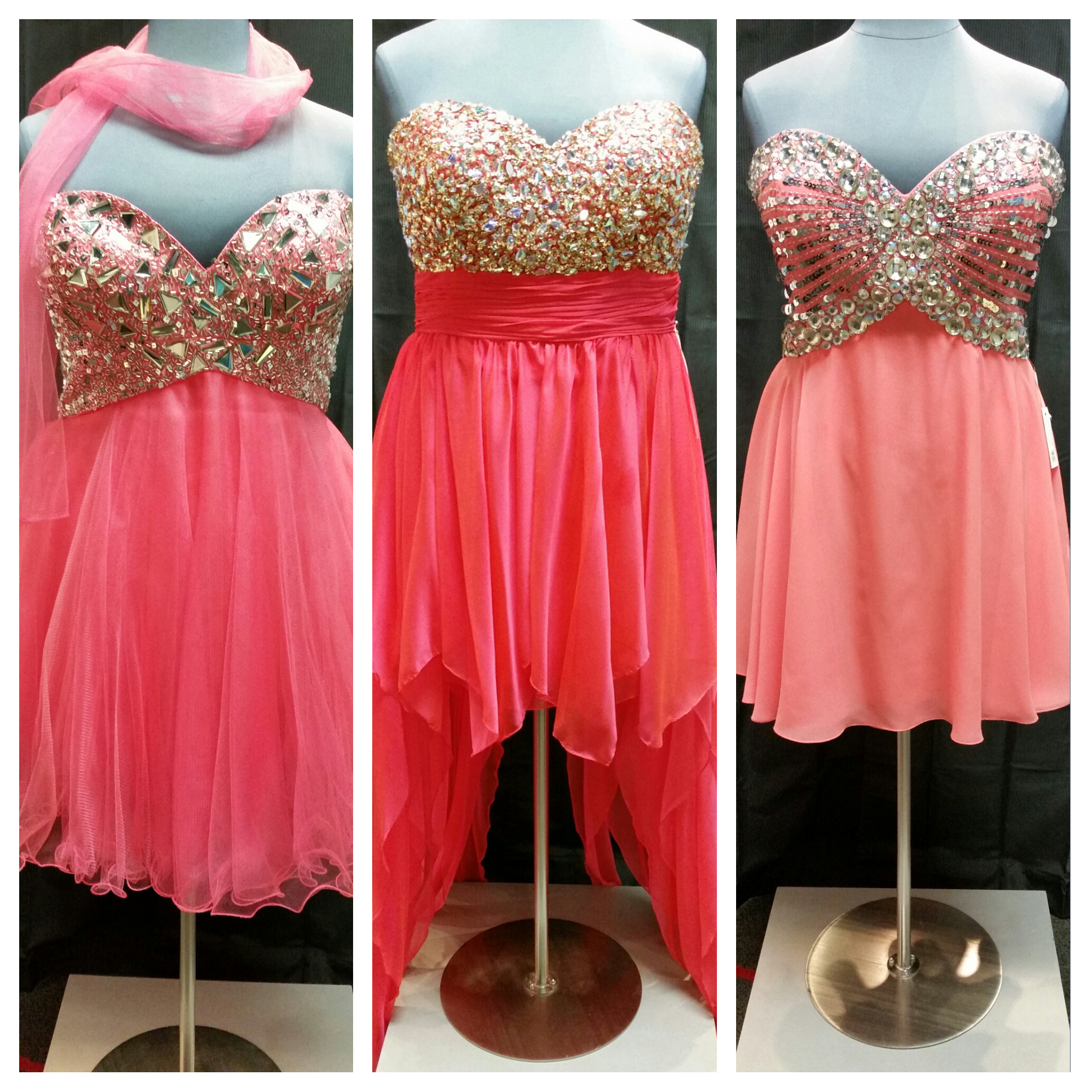 coral plus size prom dresses