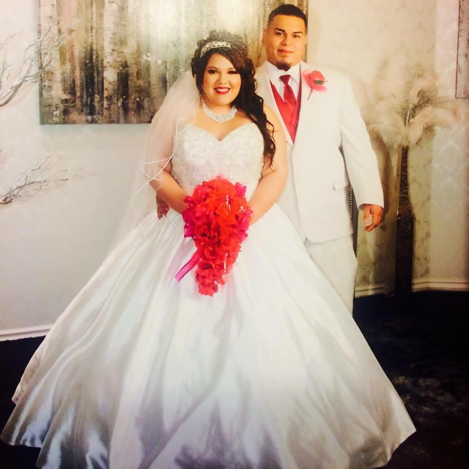 plus size blingy ballgown wedding dress