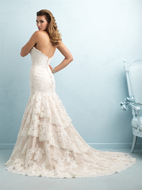 plus size champagne wedding dress