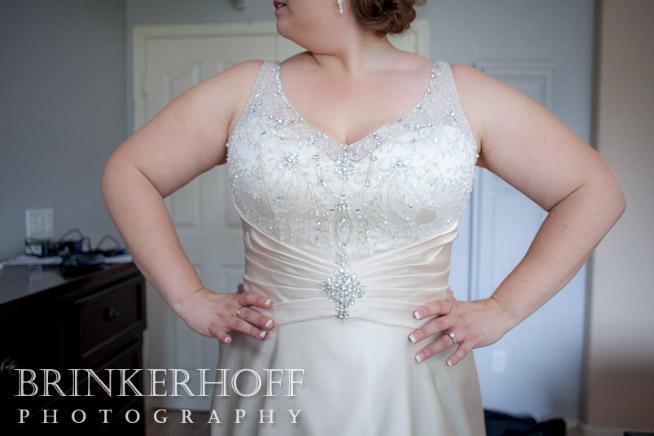 vneck wedding dress with sleeves