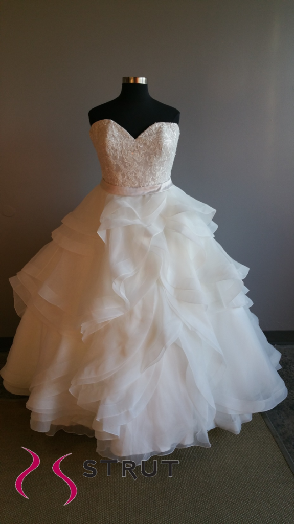 ruffle ballgown wedding dress