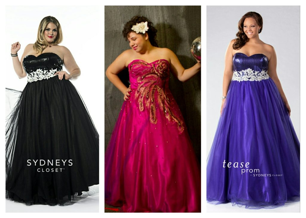 plus size ball gowns for prom