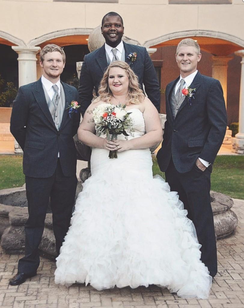 breanna plus size ruffle wedding gown