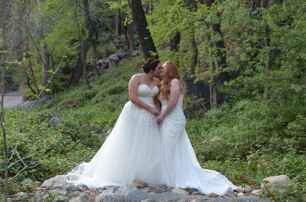 heather same sex bridal gowns plus size