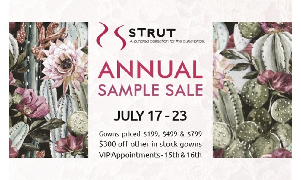 Plus Size Wedding Dress Sample Sale – July 2017