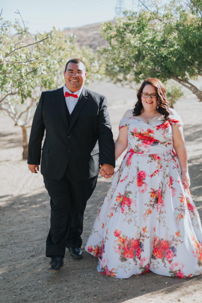 Megan's Unique Floral Wedding Dress