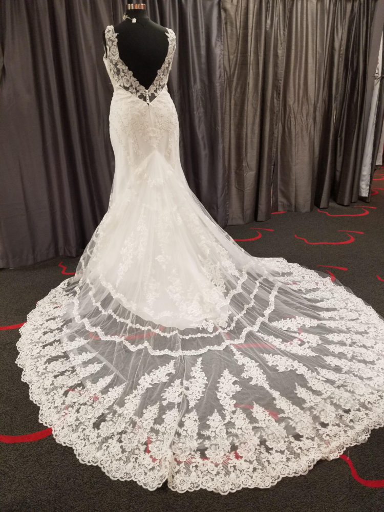 New Arrivals – 2 Fabulously Fitted V-Neck Lace Gowns