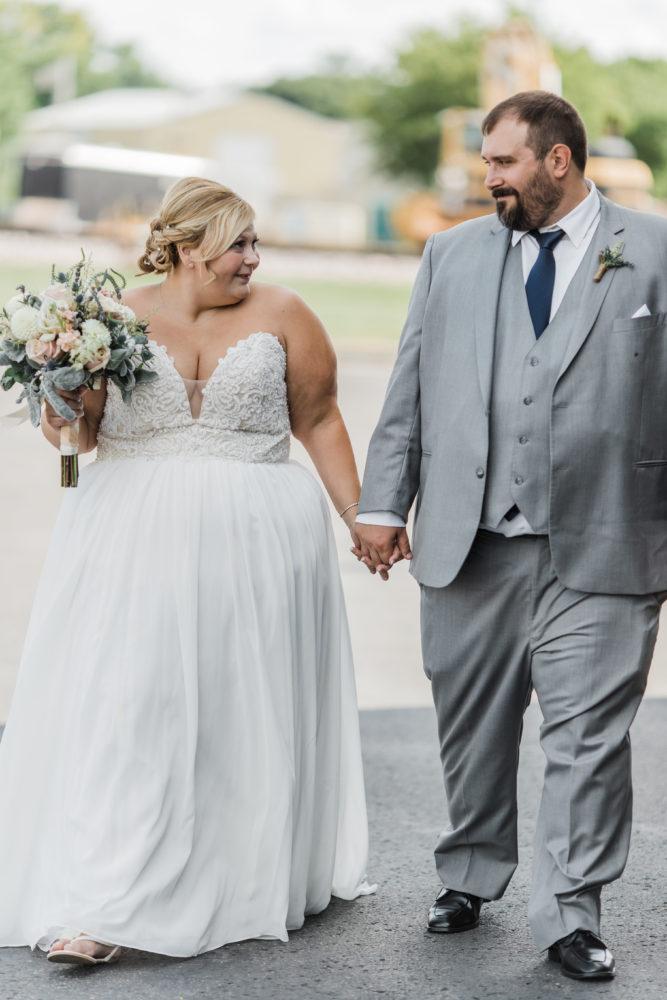 strapless plus size chiffon aline wedding dress Tempe, AZ bridal boutique