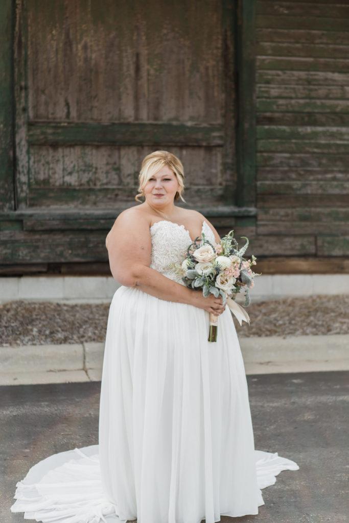 plus size chiffon aline wedding dress with sparkle
