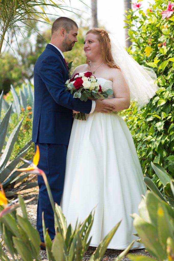 chiffon ballgown wedding dress