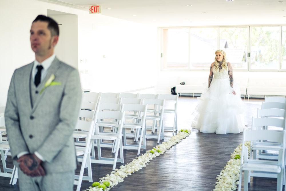First look wedding photos plus size bride