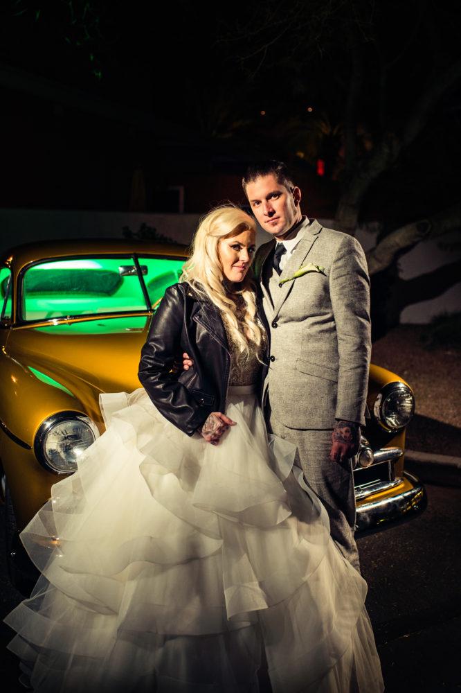 Non traditional plus size bride