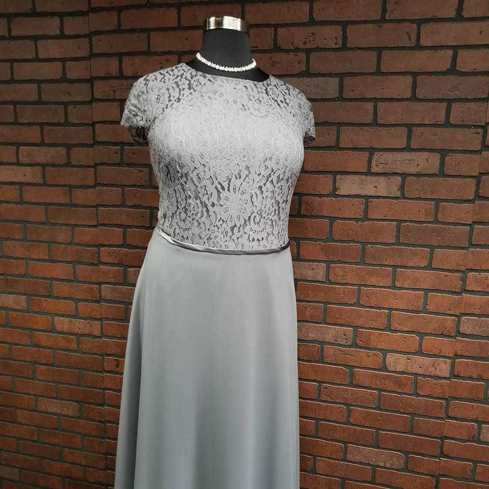 Plus size bridesmaid dress with sleeves