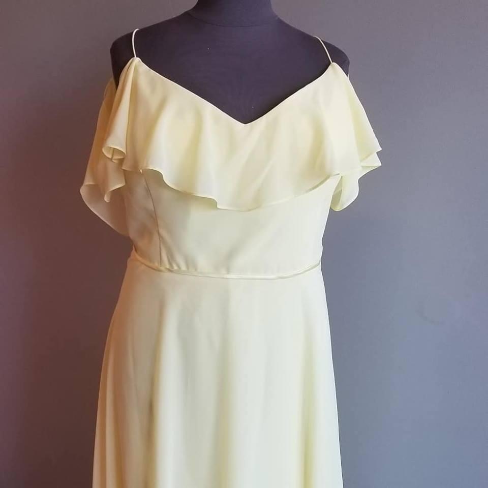 plus size flutter sleeve bridesmaid dress