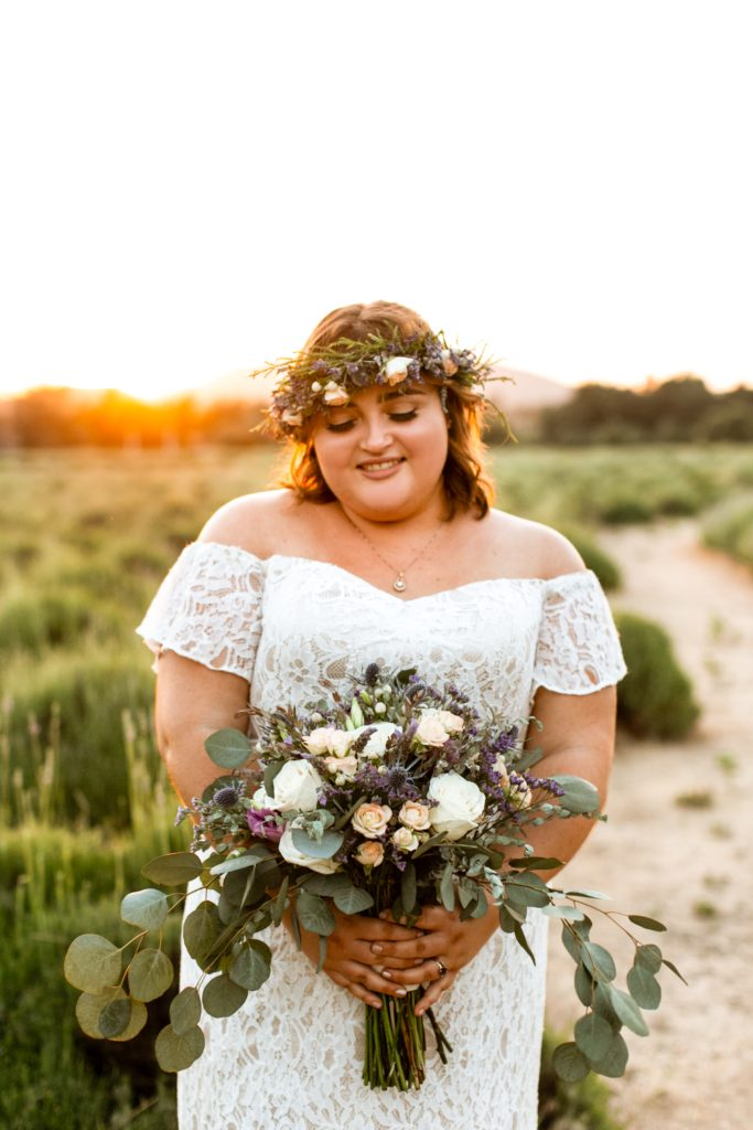 plus size wedding dress with off the shoulder sleeves