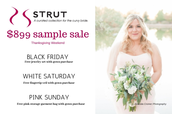 $899 Plus Size Wedding Dress Sample Sale – Thanksgiving Weekend