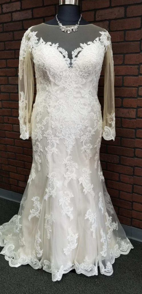long sleeve lace sheath wedding dress $899 Arizona California