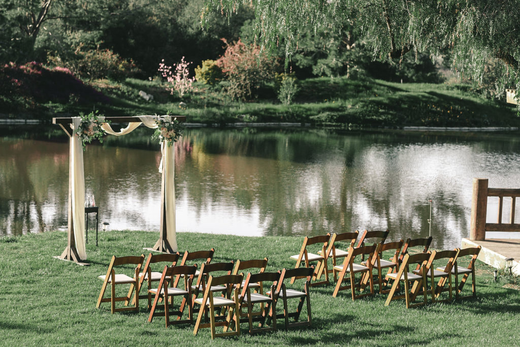 wedding ceremony site lakeside