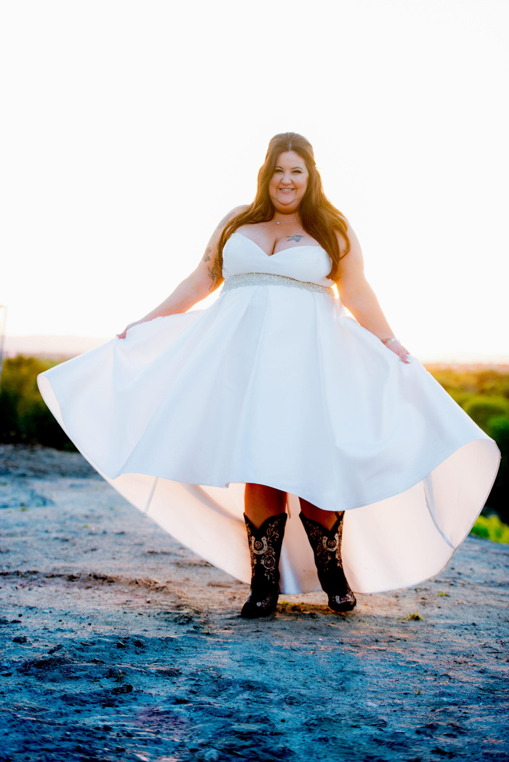 bride-wearing-mikado-fabric-hi-low-hem-wedding-dress-in-norcal-from-los-angeles-bridal-store