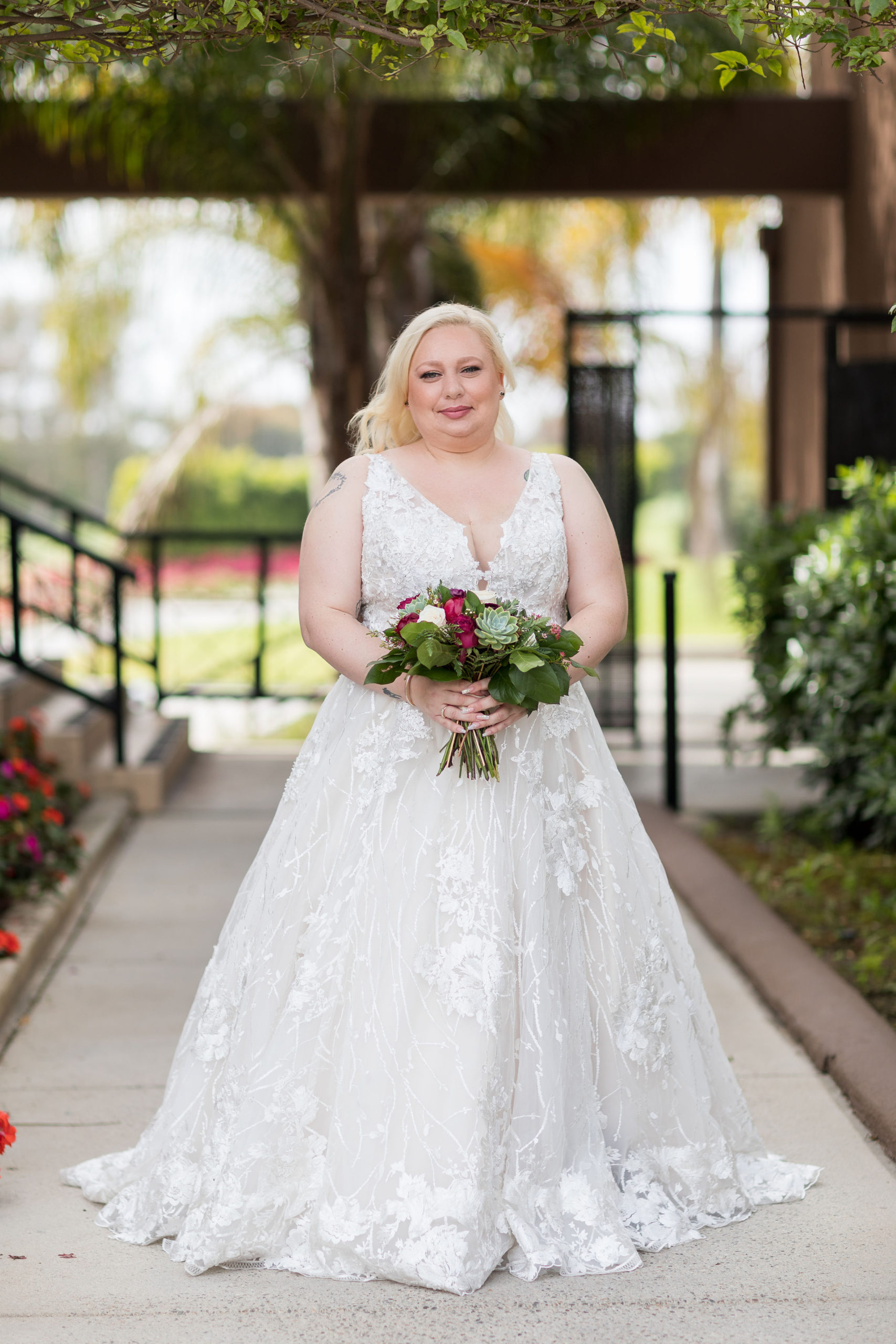 Shannon's Ornate Wedding Gown