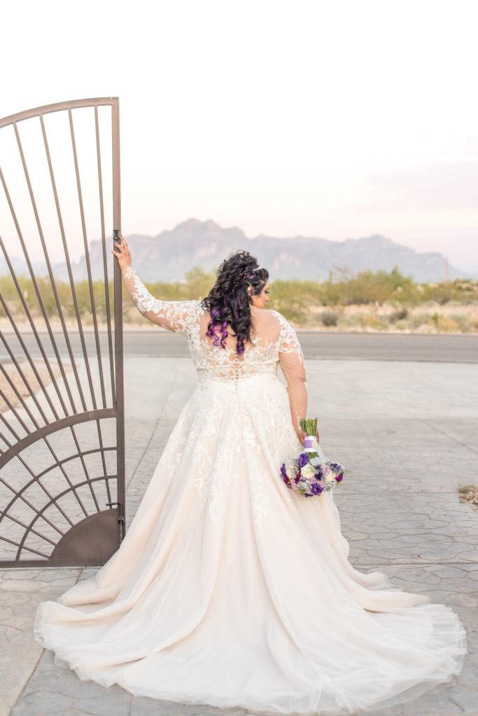 low back illusion back plus size wedding dress
