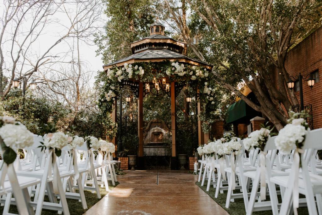 garden wedding with gazebo