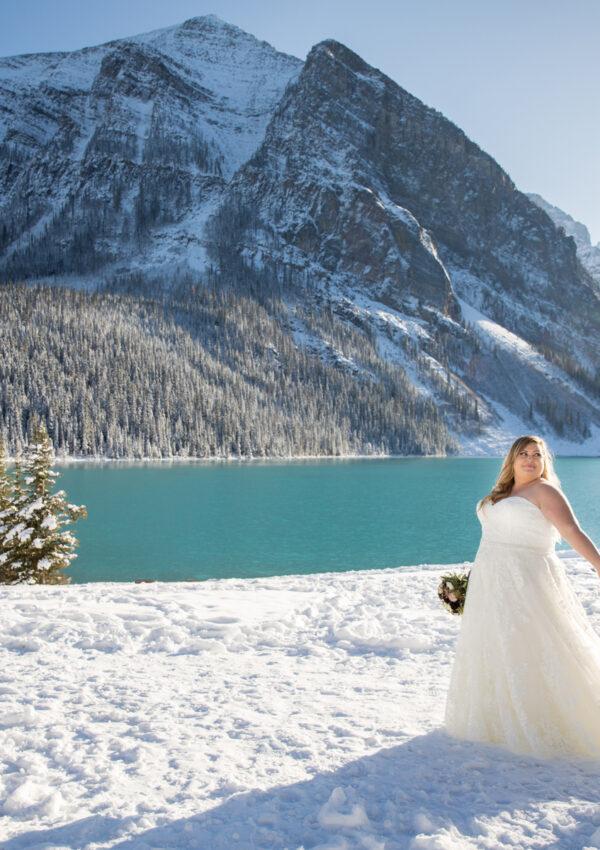 Rebecca & Matt's Lakeside Wedding Near Banff