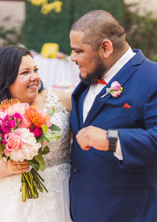 plus size wedding couple phoenix arizona