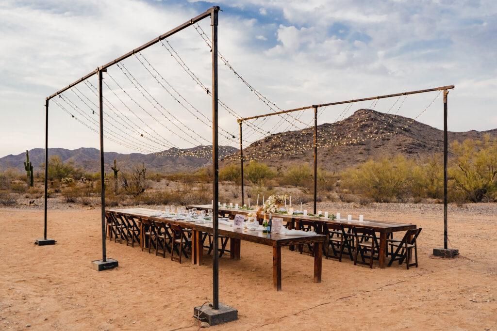 rustic outdoor wedding venue superstition mountains arizona
