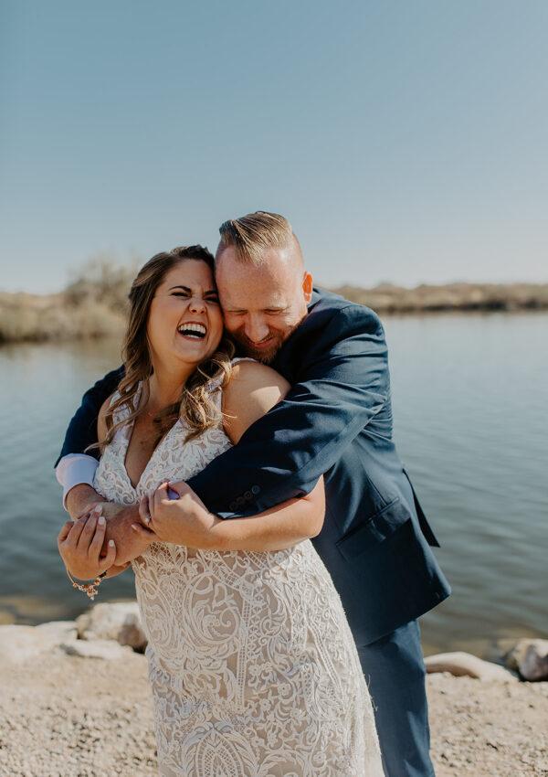 Keri's Lace Sheath Wedding Dress with Straps
