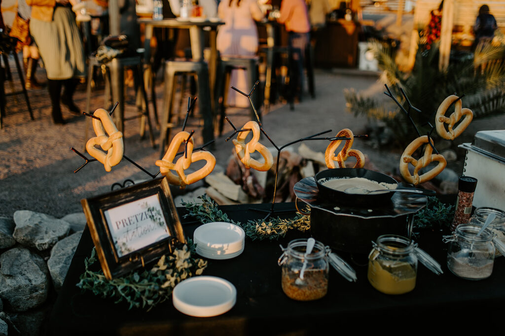 wedding pretzel bar